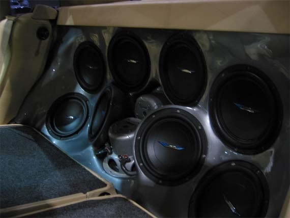 Ten 8inch Image Dynamics subwoofers