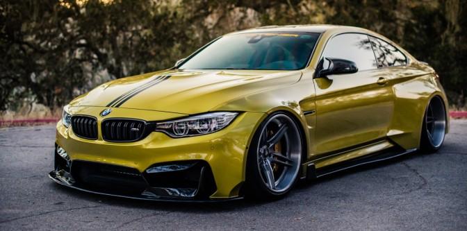 AccuAir x Vorsteiner Widebody BMW M4. (Stanced Rides)