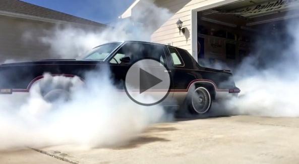 Crazy-AWD-Cutlass-chained-up-burnout1